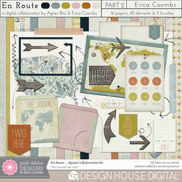 En Route Digital Scrapbooking Kit