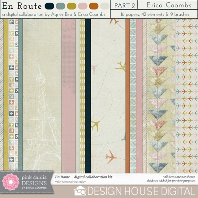 En Route Digital Scrapbooking Paper