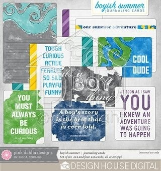 Boyish Summer Journaling Cards